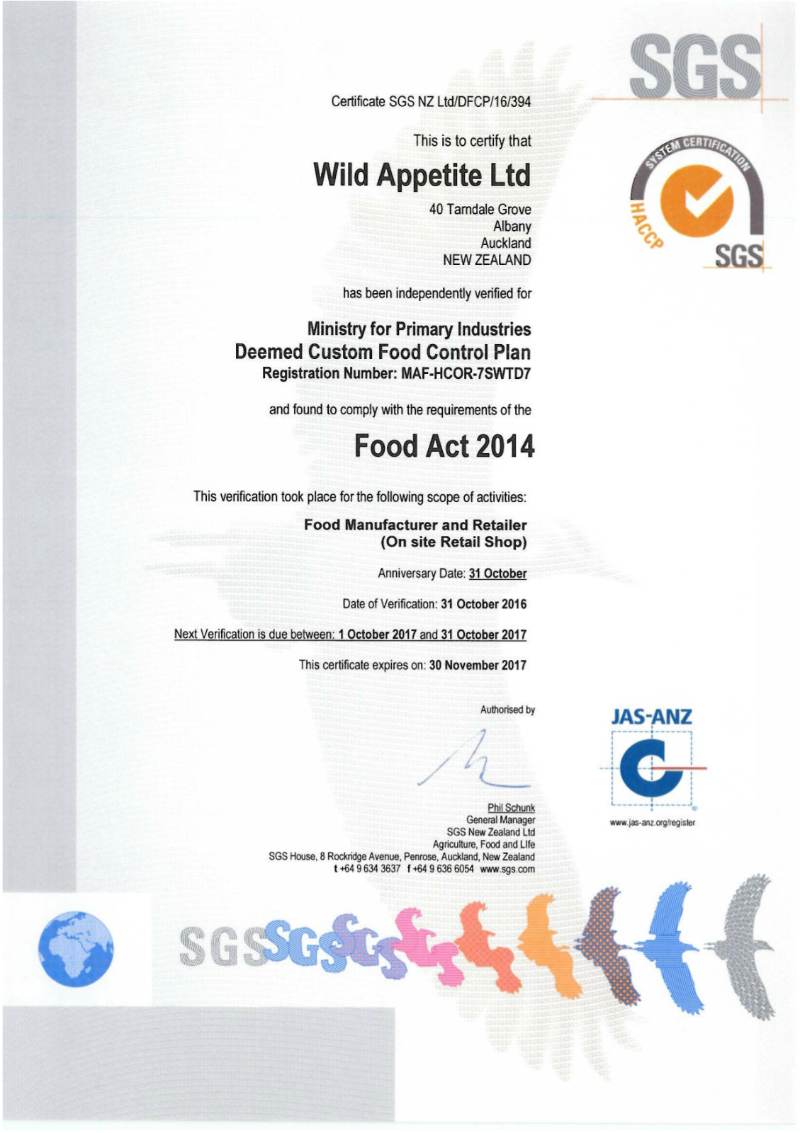 10 WILD APPETITE DFCP Certificate (002)-707